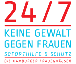 "Logo of the emergency room for the Hamburg women's shelters ""24/7"""
